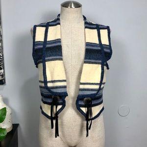 Woolrich wool blend southwestern sweater vest Sz S
